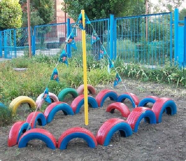 Поделки из шин на детскую площадку своими руками